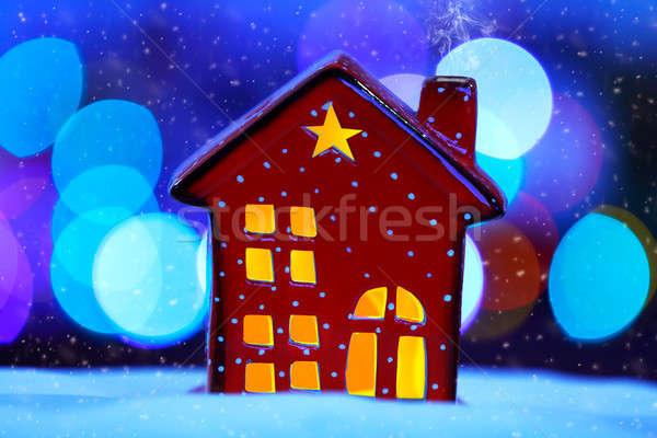 Decorative Christmas house Stock photo © Anna_Om