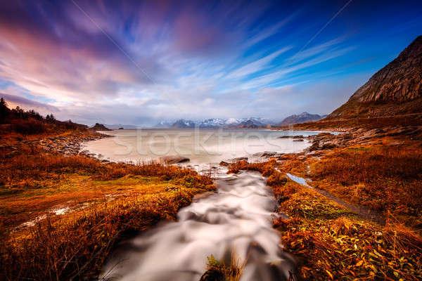 Beautiful landscape of Lofoten Stock photo © Anna_Om