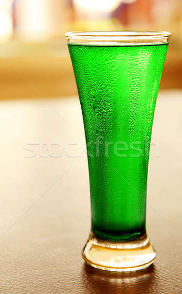 Cold green beer Stock photo © Anna_Om