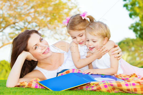 Mother with two kids outdoors Stock photo © Anna_Om