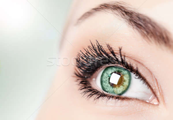 Abstract green eye Stock photo © Anna_Om
