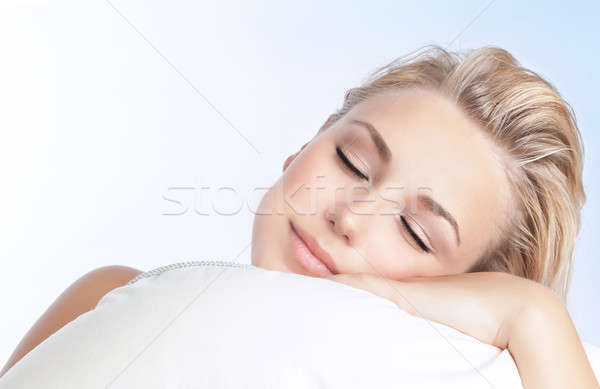 Beautiful woman sleeping Stock photo © Anna_Om