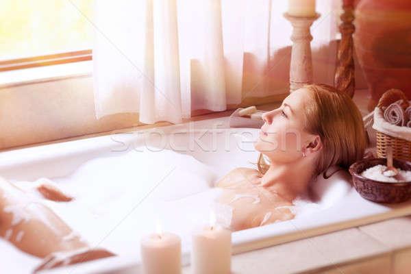 Enjoying day spa Stock photo © Anna_Om