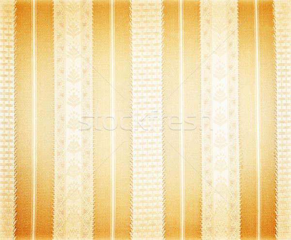 Resumen seda wallpaper vintage patrón dorado Foto stock © Anna_Om