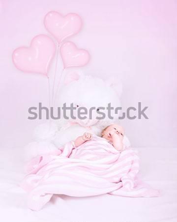 Stockfoto: Weinig · baby · slaapkamer · groot · zachte