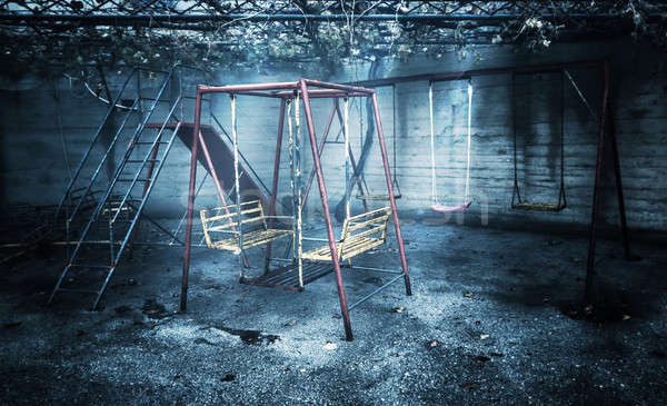 Old rusted playground Stock photo © Anna_Om