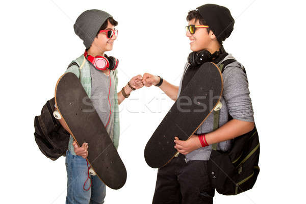 Two happy teen boys Stock photo © Anna_Om
