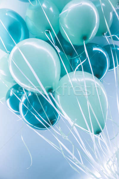 Stock photo: Blue air ballons background