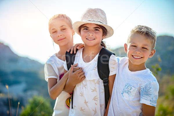 Three happy friends Stock photo © Anna_Om