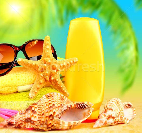 Summertime wakacje plaży obiektów piasku zabawy Zdjęcia stock © Anna_Om