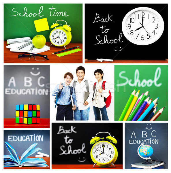 Back to school concept collage Stock photo © Anna_Om