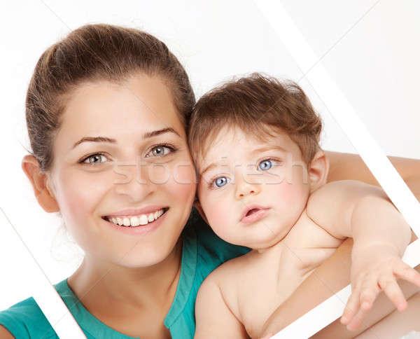 Сток-фото: Cute · матери · ребенка · мальчика · изображение · Привлекательная · женщина