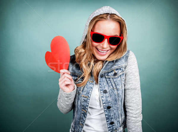 Stock photo: Happy romantic girl