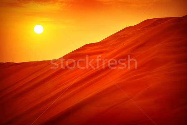 Desert sunset landscape Stock photo © Anna_Om