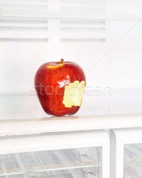 Zdjęcia stock: Jabłko · lodówka · Fotografia · duży · czerwony