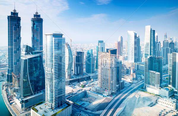 Bella Dubai città uccello occhi view Foto d'archivio © Anna_Om