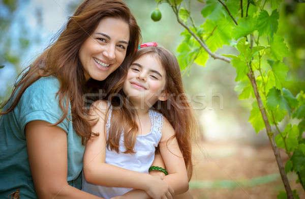 Felice madre figlia ritratto bella cute Foto d'archivio © Anna_Om