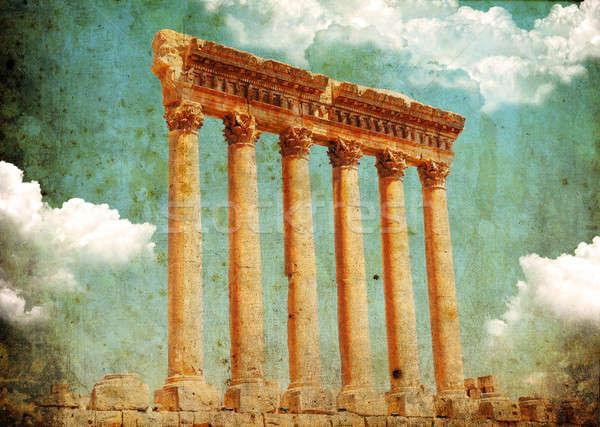 ретро стиль фото храма Ливан Сток-фото © Anna_Om