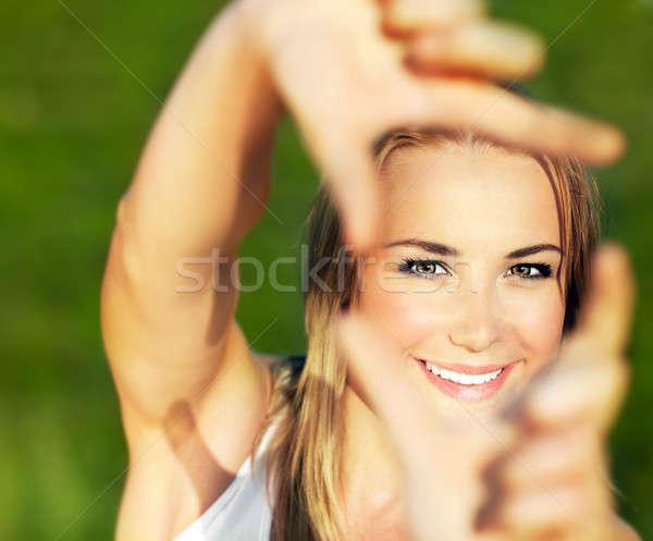 Joli fille extérieur cadre Photo stock © Anna_Om