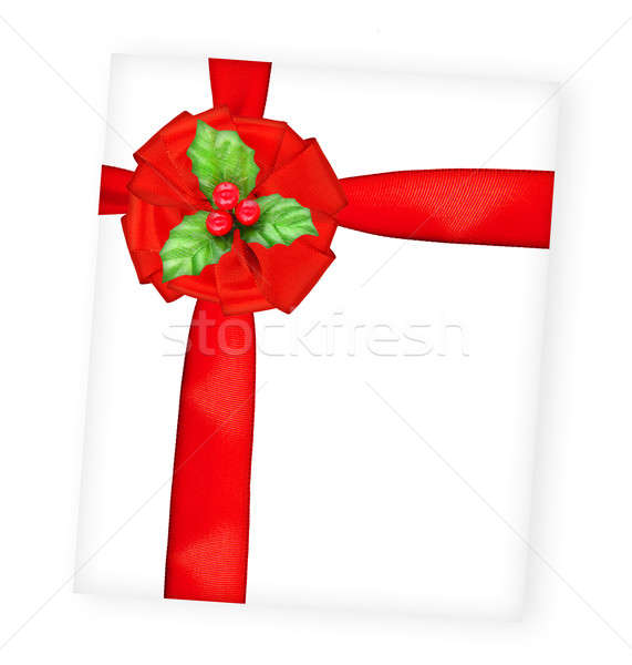 Joyeux Noël carte de vœux grand soie Photo stock © Anna_Om