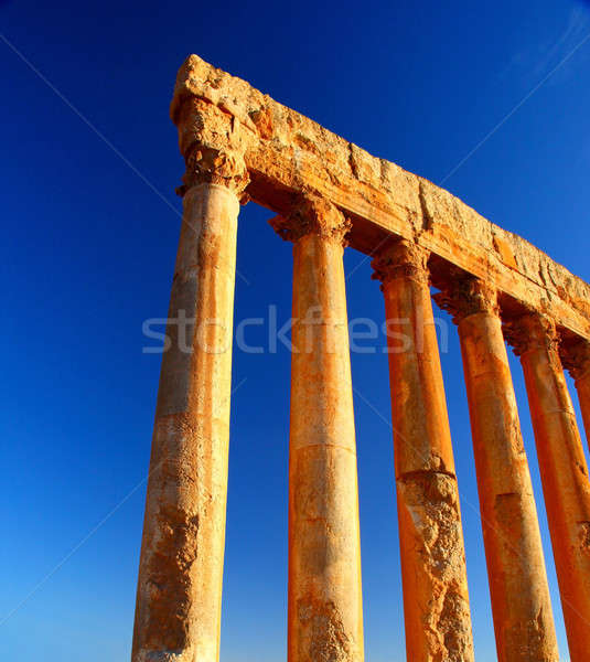 Jupiter's temple columns over blue sky Stock photo © Anna_Om