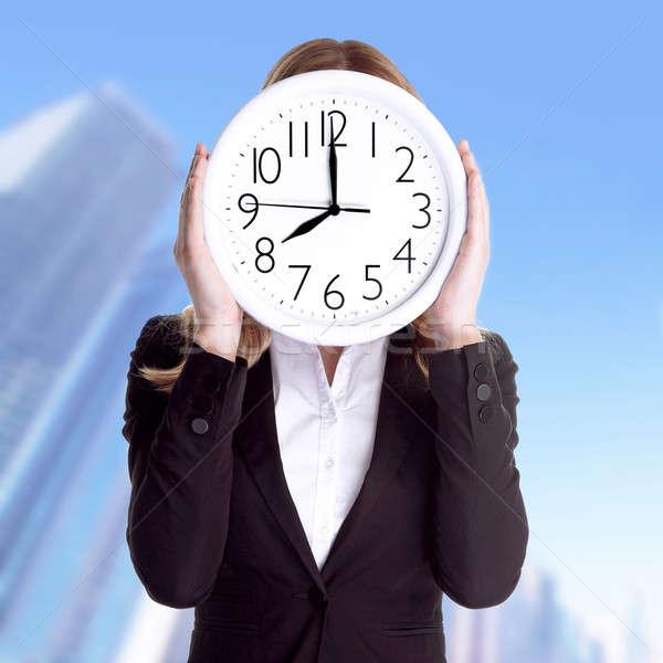 Stipt kantoormedewerker zakenvrouw formeel pak Stockfoto © Anna_Om