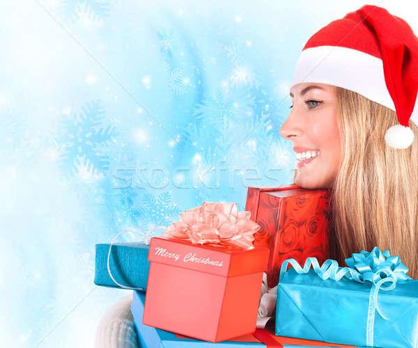 Sevimli yardımcı portre çok Noel Stok fotoğraf © Anna_Om