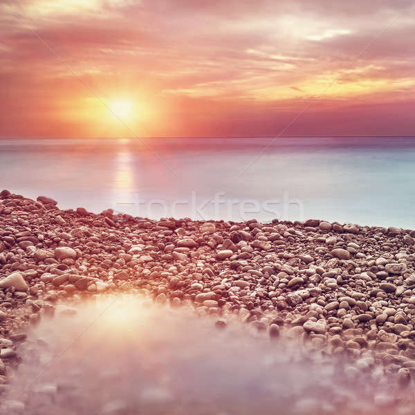 Beautiful beach landscape on sunset Stock photo © Anna_Om