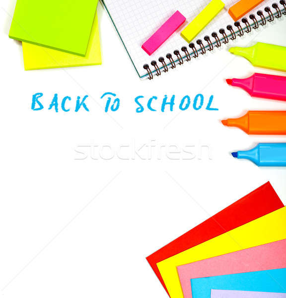Stock photo: Back to school border