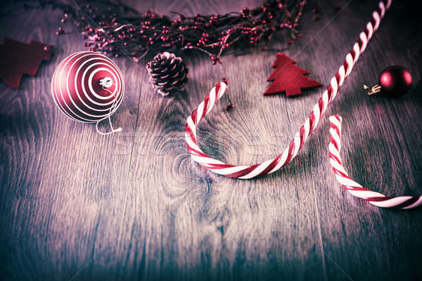 Stock photo: Vintage Christmas background