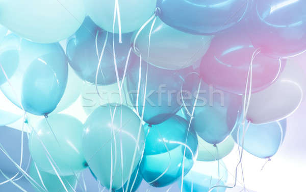 Blue balloons background Stock photo © Anna_Om