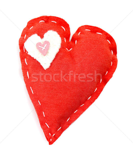 Handmade red heart Stock photo © Anna_Om