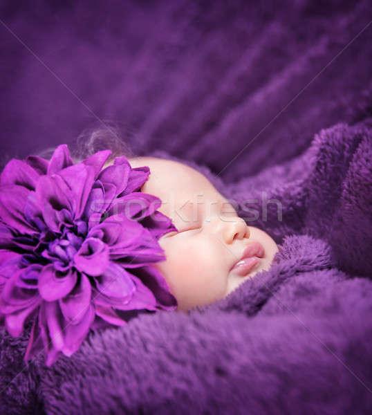 かわいい 眠い クローズアップ 肖像 スタイリッシュ ストックフォト © Anna_Om