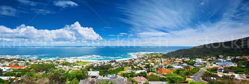 Кейптаун город панорамный изображение красивой Cityscape Сток-фото © Anna_Om