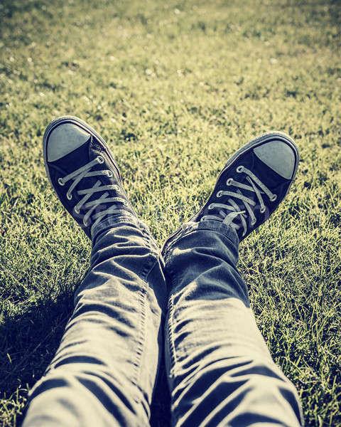 Wearing stylish gumshoes Stock photo © Anna_Om