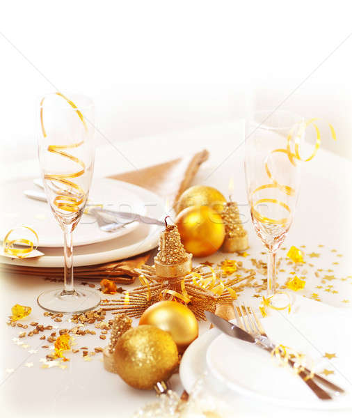 Holiday table setting Stock photo © Anna_Om