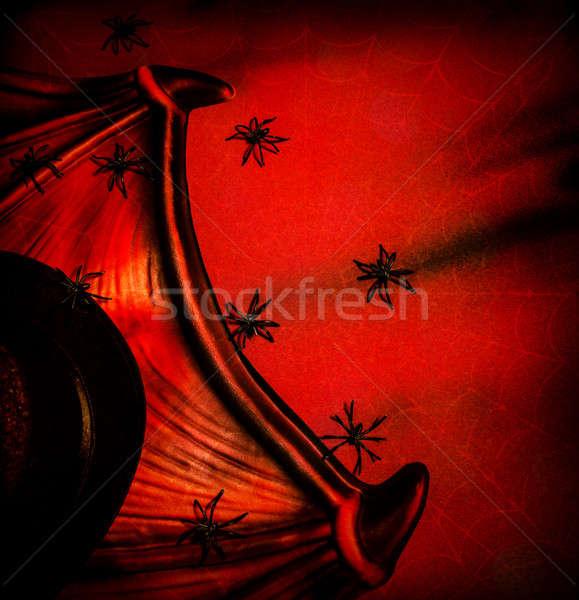 Halloween abstract buio rosso sfondo Foto d'archivio © Anna_Om