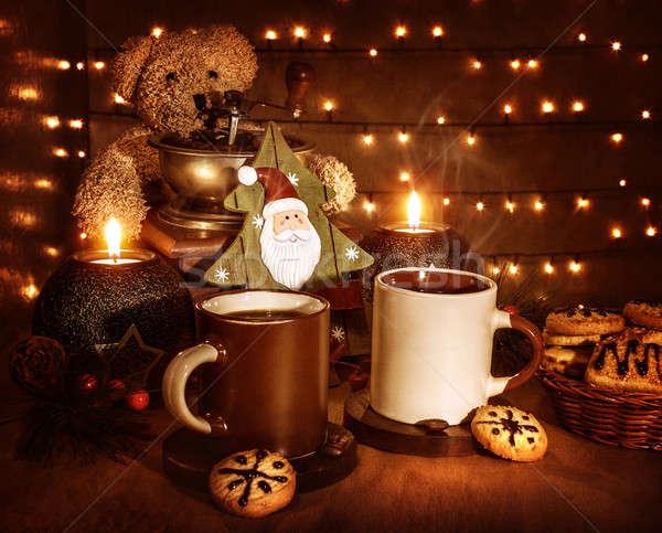 Сток-фото: Рождества · кофе · Cookies · натюрморт · вкусный · традиционный
