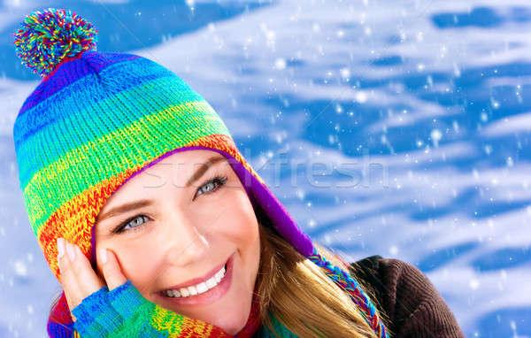 Happy woman in wintertime Stock photo © Anna_Om