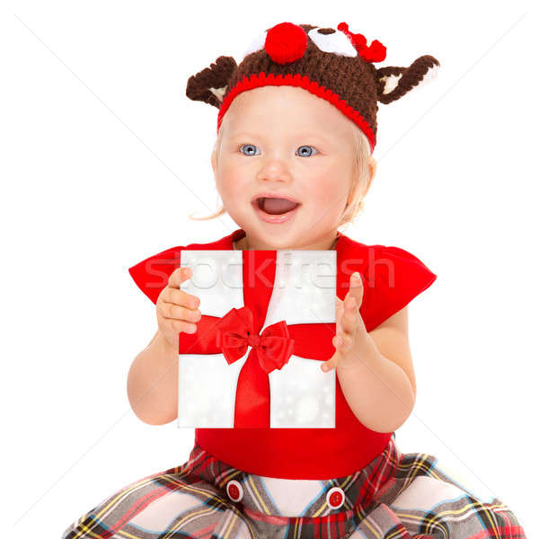 Happy baby with gift box Stock photo © Anna_Om