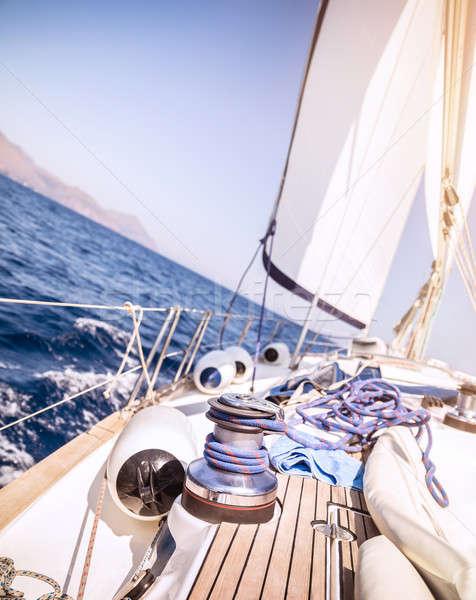 Stock photo: Beautiful sailboat in the sea