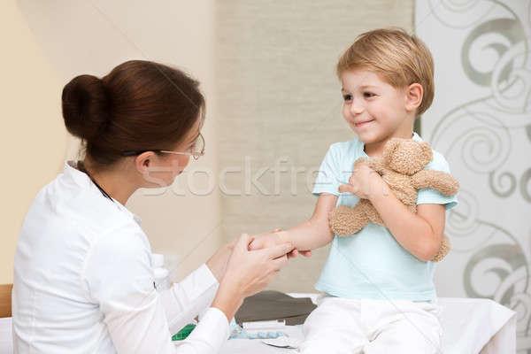 Happy boy visiting doctor Stock photo © Anna_Om