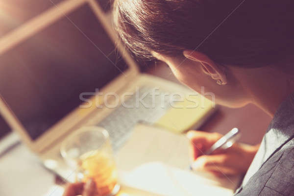 Business woman at work Stock photo © Anna_Om