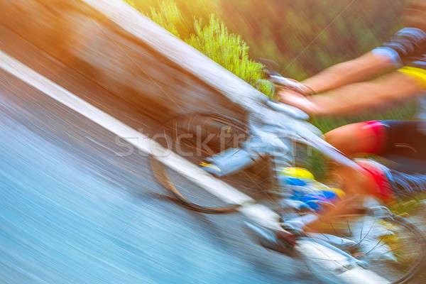 Bicikli turné Olaszország lassú mozgás fotó Stock fotó © Anna_Om