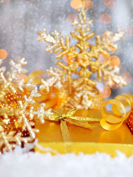 Beautiful golden gift Stock photo © Anna_Om