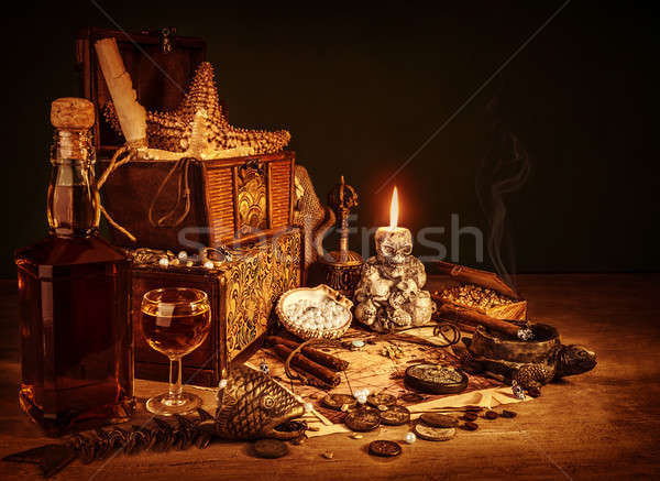 Treasure still life Stock photo © Anna_Om
