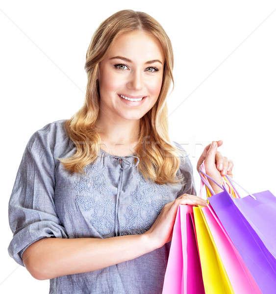 幸せ 買い物客 少女 クローズアップ 肖像 4 ストックフォト © Anna_Om