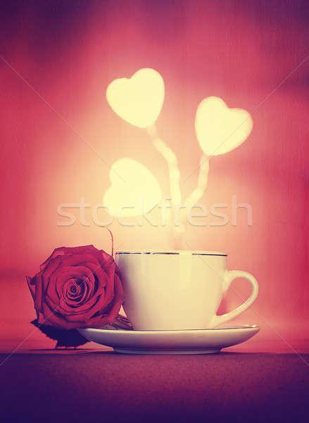 浪漫 晚餐 美麗 靜物 早晨 咖啡 商業照片 © Anna_Om