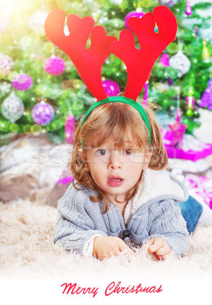 Little boy near Christmas tree  Stock photo © Anna_Om