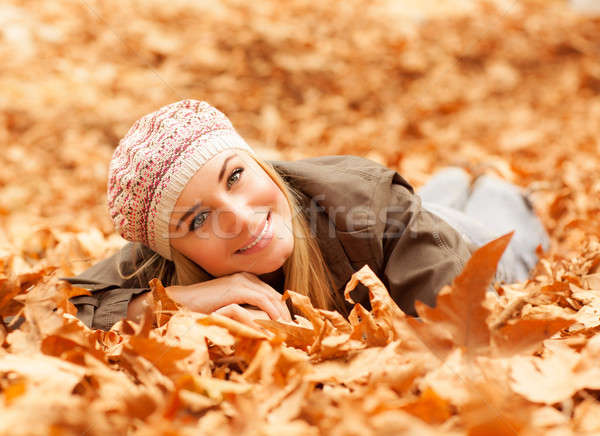 Woman lay on the ground Stock photo © Anna_Om